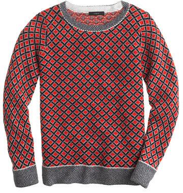 J.Crew Collection cashmere diamond sweater