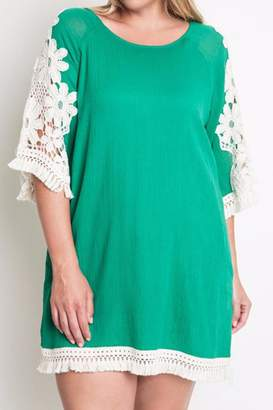Umgee USA Green Shift Dress