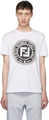 Fendi White Roma Logo T-Shirt