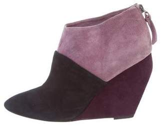 Jean-Michel Cazabat Suede Wedge Ankle Boots