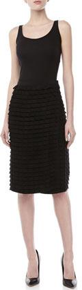Donna Karan Mosaic Embroidered Knee Skirt