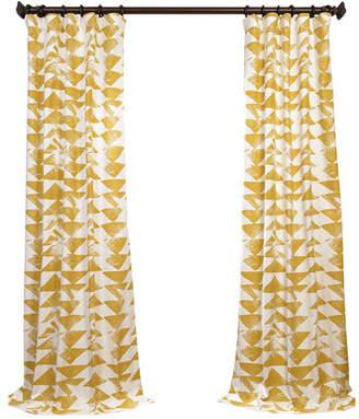 Langley Street Katelyn Printed Cotton Twill Geometric Rod Pocket Single Curtain Panel