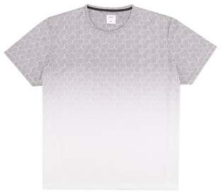 Mens Big & Tall White Geometric Fade Print T-Shirt