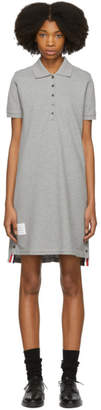 Thom Browne Grey A-Line Polo Dress