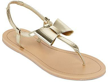 JCPenney Big-Bow Thong Sandals