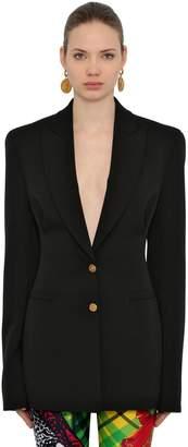 Versace Crepe Wool Stretch Blazer