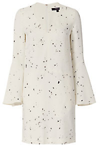 Derek Lam Bell Sleeve Drip Dot Pattern Dress $1,695 thestylecure.com
