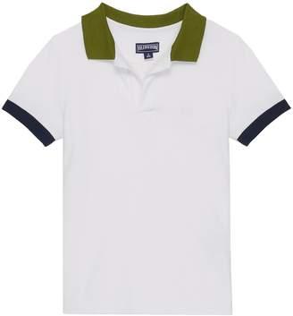 Vilebrequin 'Pantin' contrast collar kids polo shirt