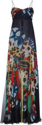 Roberto Cavalli Empire Silk Dress