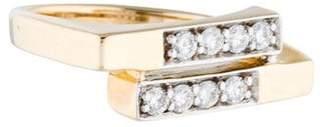 Ring 14K Diamond Geometric
