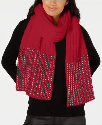 DKNY Studded Ribbed Oversized Scarf, Created for Macy's