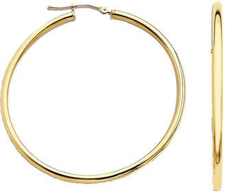 JCPenney FINE JEWELRY Narrow Hoop Earrings 14K Yellow Gold