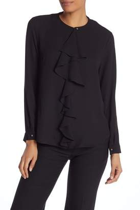 Nine West Ruffle Front Jewel Neck Blouse