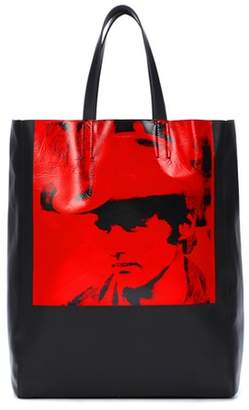 Calvin Klein X Andy Warhol leather shopper