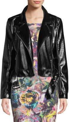 Nicole Miller New York Faux-Leather Moto Jacket