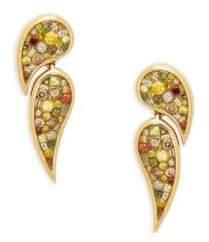 Diamond 18K Yellow Gold Double Scorpio Drop Earrings