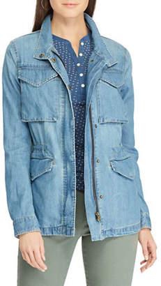 Chaps Petite Denim Field Jacket