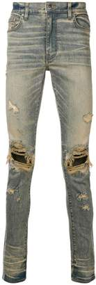 Amiri distressed slim jeans