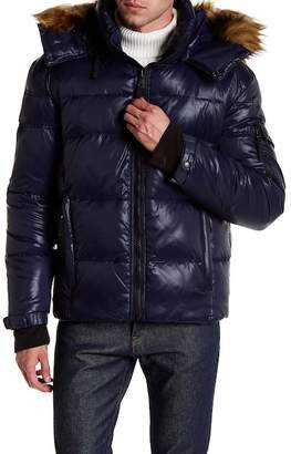 S13 Stowe Quilted Faux Fur Hood Parka