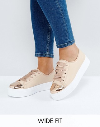 ASOS DILLAN Wide Fit Slip On Sneakers $40 thestylecure.com