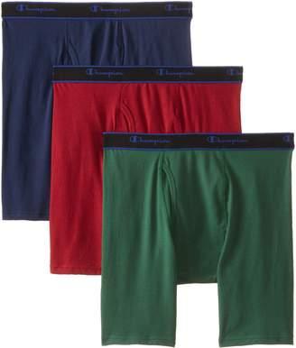 Champion Men's 3 Pack Performance Cotton Long Leg Boxer Briefs