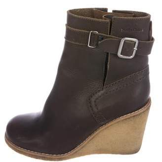 See by Chloe Leather Wedge Boots
