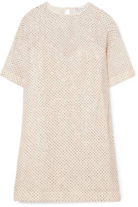 RED Valentino Glittered Silk-georgette Mini Dress - Beige