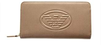 Emporio Armani Beige Frida Faux Leather Wallet