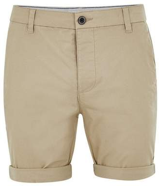 Topman Mens Stone Stretch Skinny Chino Shorts