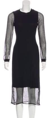 Jonathan Simkhai Mesh Midi Dress Black Mesh Midi Dress