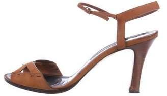 Manolo Blahnik Suede Ankle-Strap Pumps
