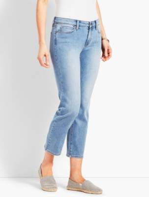 Talbots Denim Straight Leg Crop-Jax Wash
