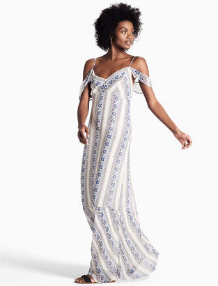 Lucky Brand Floral Stripe Maxi Dress