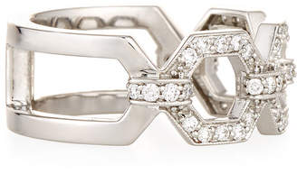 Penny Preville 18k Square Diamond Link Ring, Size 6