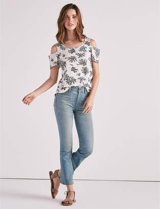 Lucky Brand Floral Cold Shoulder Top