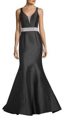 Basix II Black Label V-Neck Gown