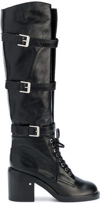 Laurence Dacade long buckled combat boots