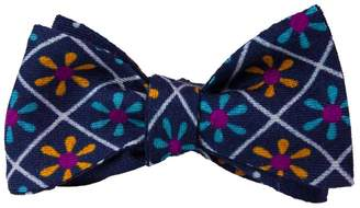 40 Colori - Navy Propeller Wool & Silk Butterfly Bow Tie