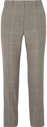 Givenchy Houndstooth Wool-blend Straight-leg Pants - Gray