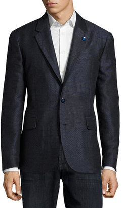 Robert Graham Varun Mixed-Weave Sport Coat, Navy $798 thestylecure.com