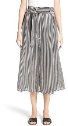 Women's A.l.c. Divya Stripe Midi Skirt $395 thestylecure.com