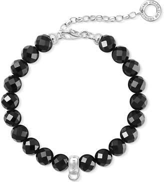 Thomas Sabo Charm Club obsidian bead charm bracelet