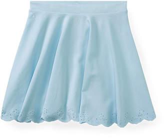 Ralph Lauren Scalloped Ponte Pull-On Skirt