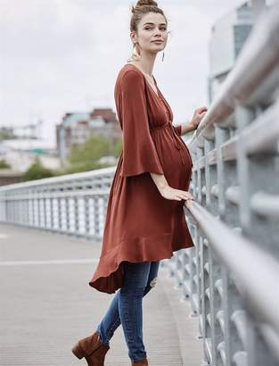 A Pea in the Pod High-low Hem Maternity Blouse