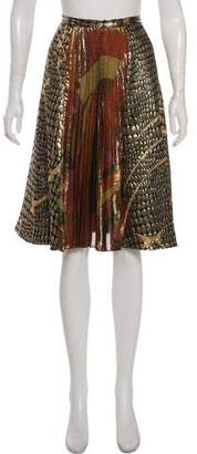 Emilio Pucci Pleated A-Line Skirt