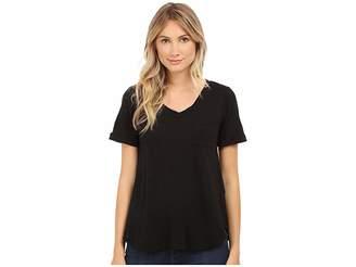 Allen Allen Short Sleeve Vee w/ Pocket Women's Short Sleeve Pullover