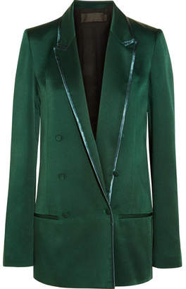 Haider Ackermann Double-breasted Satin Blazer - Emerald