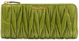 Miu Miu Matelassé leather wallet