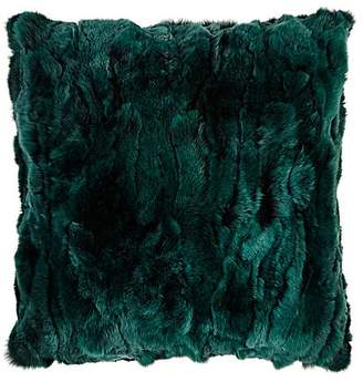 Adrienne Landau Rex Rabbit Fur Pillow
