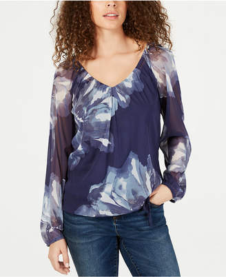 INC International Concepts I.n.c. Long-Sleeve Peasant-Hem Top